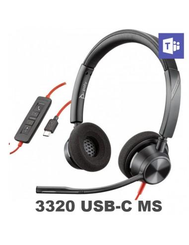 Poly - Plantronics Blackwire 3320 USB-C UC