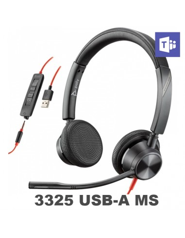 Poly - Plantronics Blackwire 3325 USB-A MS